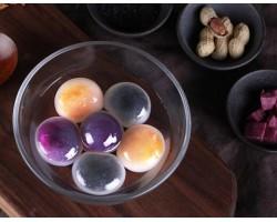 水晶汤圆晶彩组合装 360g 黑芝麻 紫薯 花生 早餐 火锅食材 夜宵 新老包装交替发货