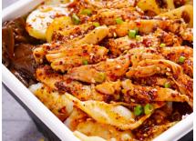 小火锅 麻辣棒棒鸡成都特色小吃 红油凉拌菜香辣鸡肉